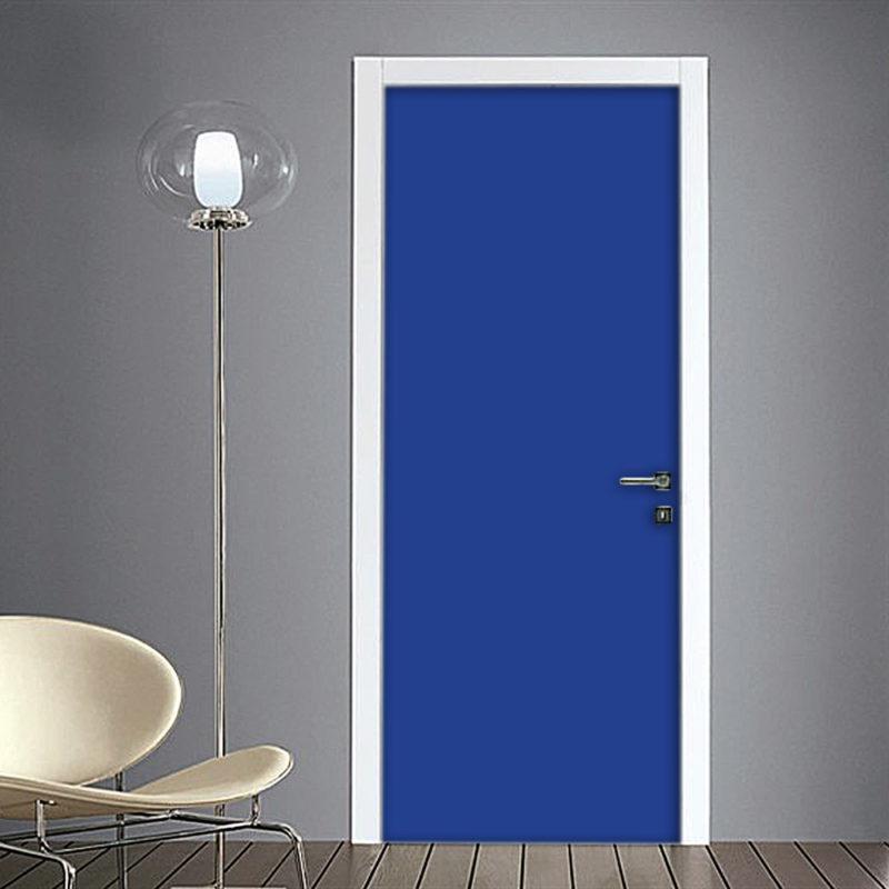 Adesivo per porte tinta unita blu