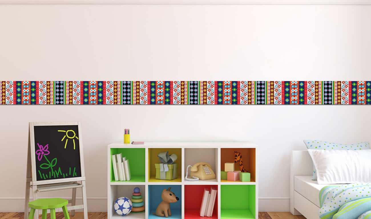 Greca decorativa astratta vendita online - Carta da parati adesiva per camerette ...