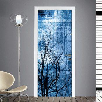 Adesivo porta astratta blu