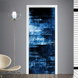 Adesivo porta astratto blu