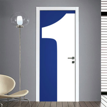 Adesivo Porta: Numero 1