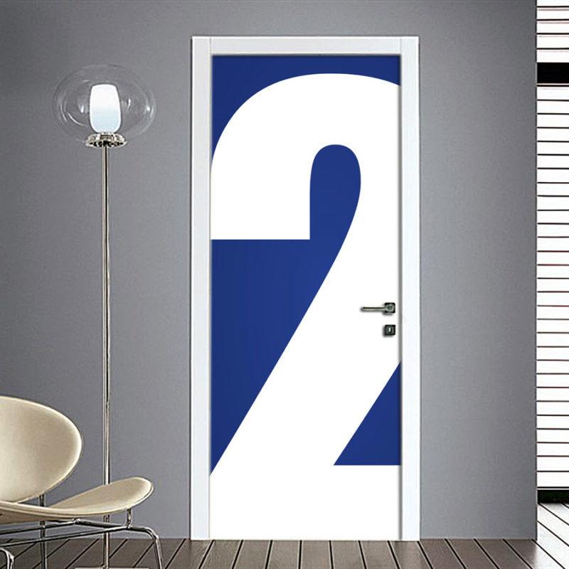 Adesivo Porta: Numero 2