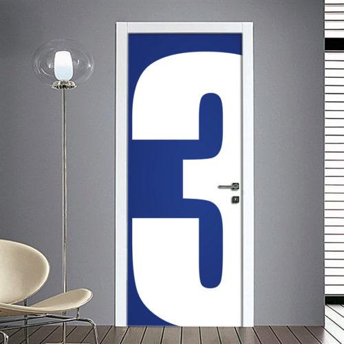 Adesivo Porta: Numero 3