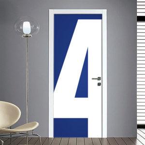 Adesivo Porta: Numero 4