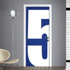 Adesivo Porta: Numero 5