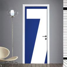 Adesivo Porta: Numero 7