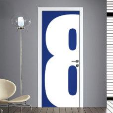 Adesivo Porta: Numero 8