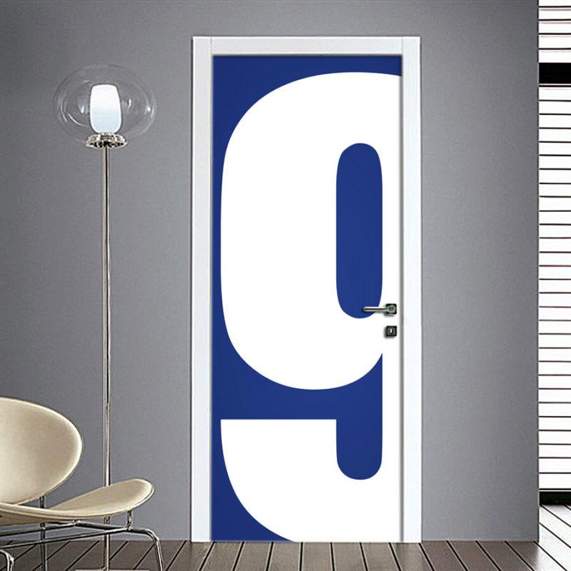Adesivo Porta: Numero 9