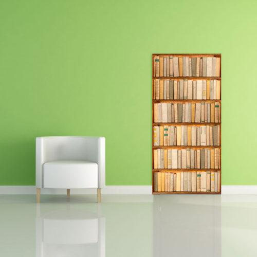 Adesivi murali: Finta libreria