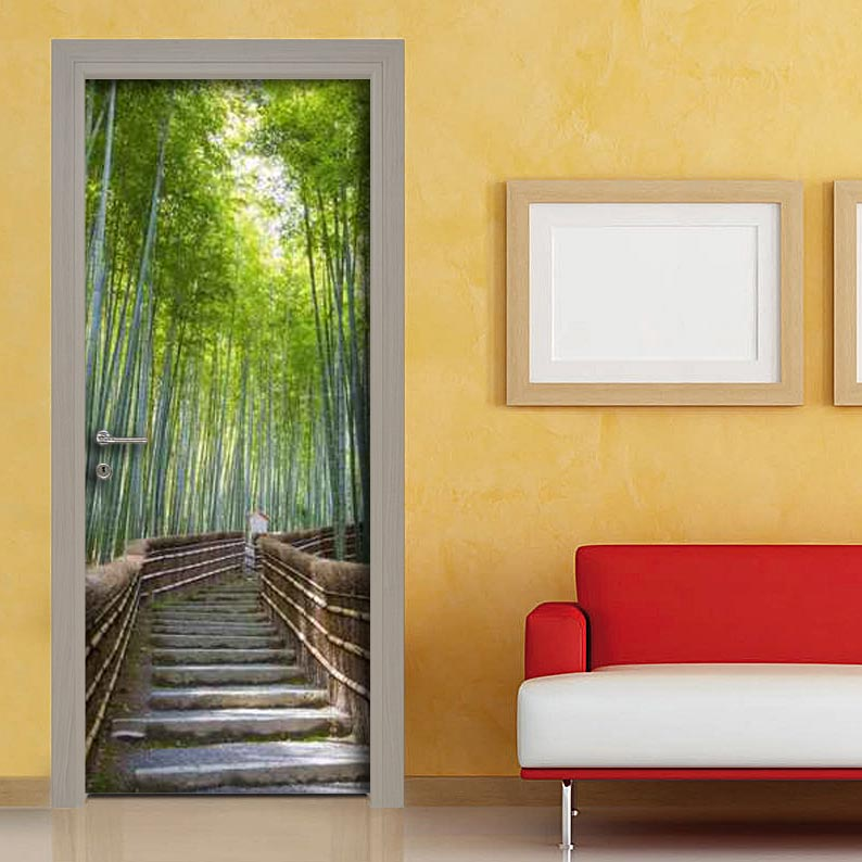 Personalizza le porte con fotografie sentiero vendita for Adesivi per vetri ikea