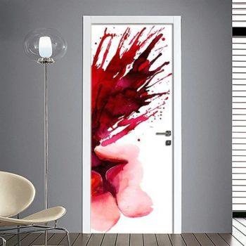 Adesivi per porte con schizzo di vernice