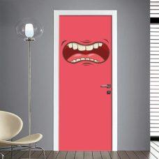 Adesivo emoticon per porta bocca arrabbiata