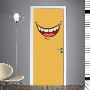 Adesivo per porta bocca sorridente