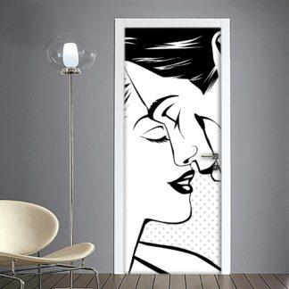 Innamorati disegno stilizzato adesivo porta innamorati