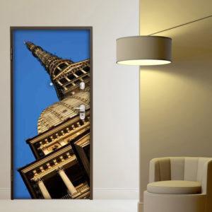 Fotomurale adesivo per porta: Mole Antonelliana Torino
