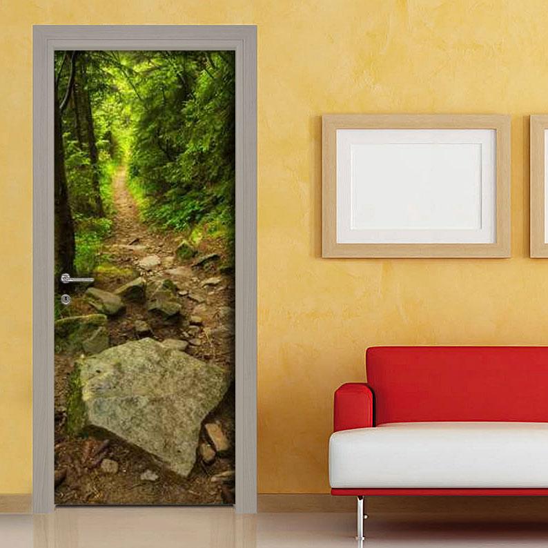 Adesivi porta sentiero di montagna facile applicazione - Carta adesiva rivestimento mobili ...