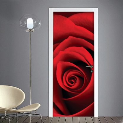 Rosa rossa Adesivi per porta