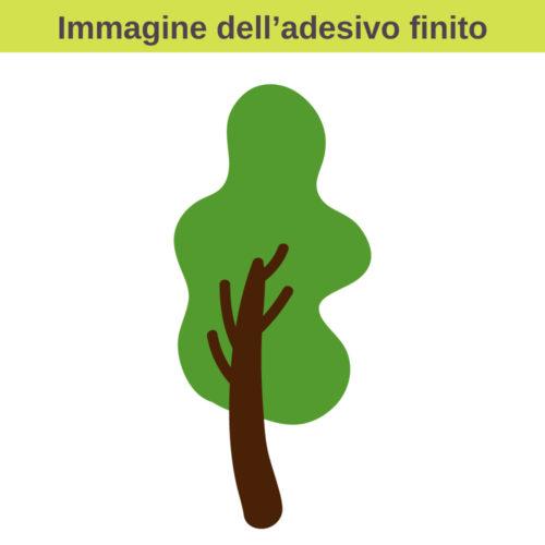 Stickers con alberi stilizzati