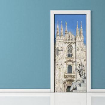 Adesivo porta Duomo di Milano