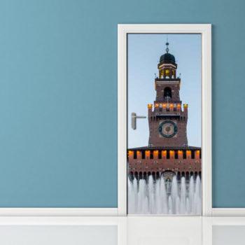 Adesivo per Porta - Milano Castello Sforza
