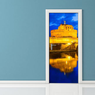 Adesivi per porte: Roma by Night Castel Sant Angelo 72533945