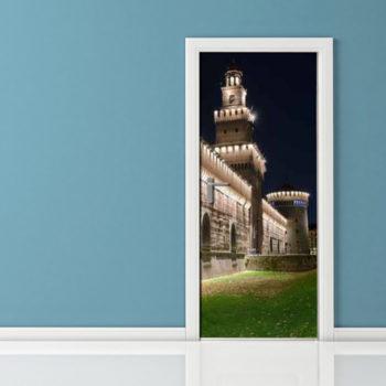 Adesivo per porta - Milano Castello Sforzesco