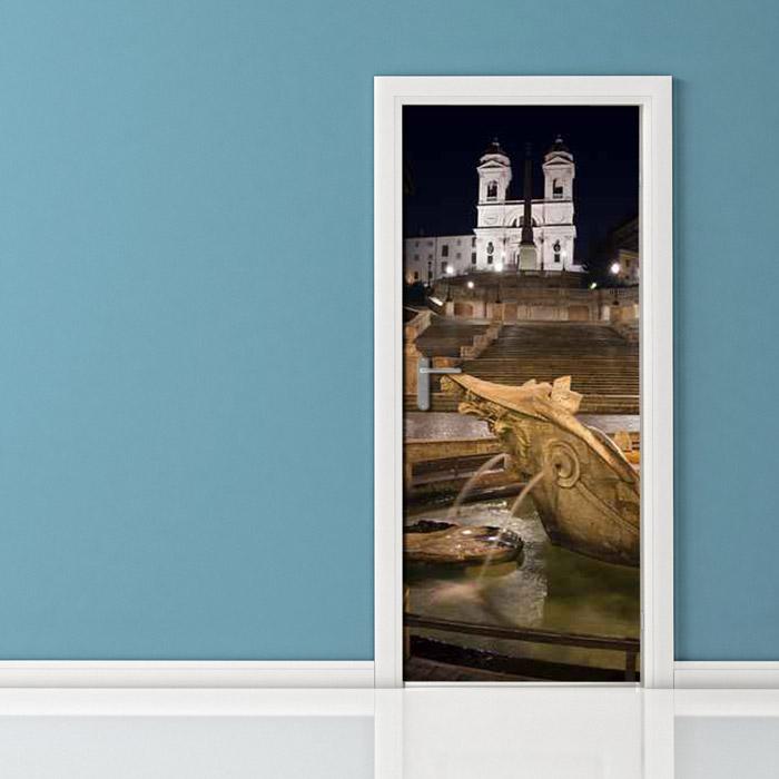 Adesivo per porta - Roma Piazza di Spagna