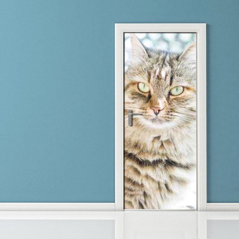 Adesivo per porte gatto cacciatore