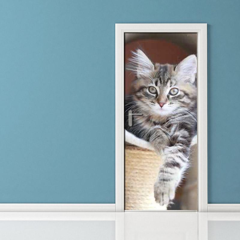 Adesivo per porta gatto gioherellone - Porta per gatti ...