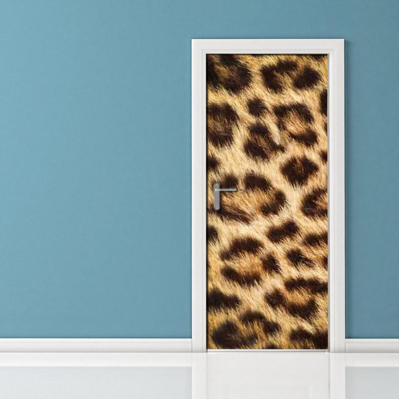 Adesivo per porta pelle di ghepardo