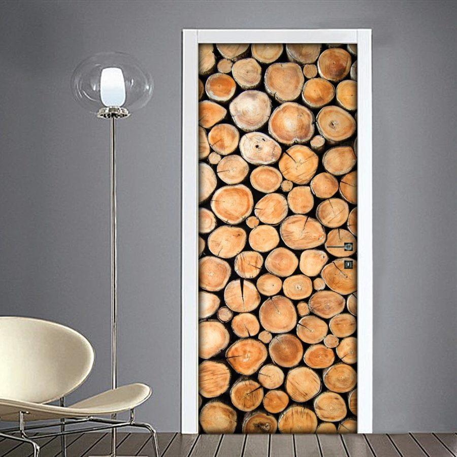 Adesivo porta catasta di legna