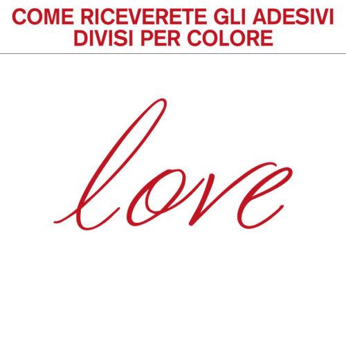 Adesivi murali frasi d'amore love