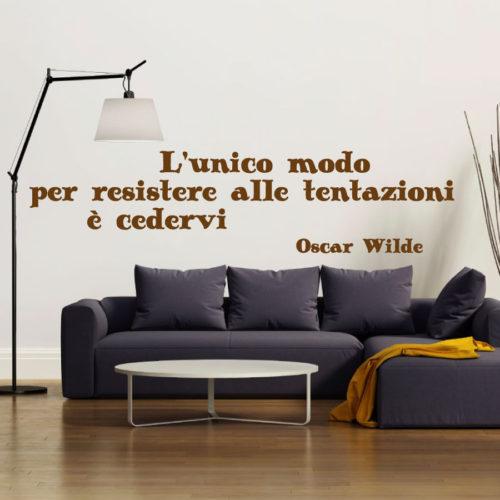 Adesivi murali frasi soggiorno unico modo di resistere