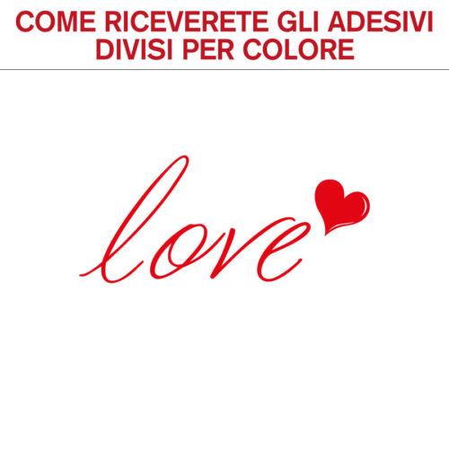 Adesivi murali frasi amore love