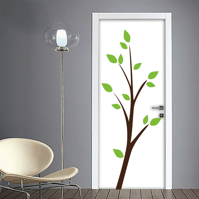 Decorazioni porte albero e foglie