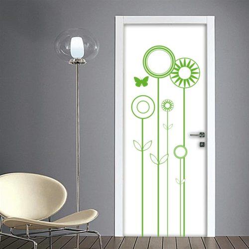 Adesivi murali stickers per pareti porte e quadri moderni for Quadri fiori stilizzati