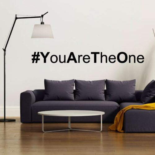 Adesivi Murali: Twitter you are the one
