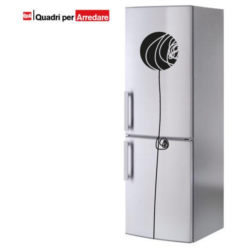 Stickers frigorifero con fiore stilizzato