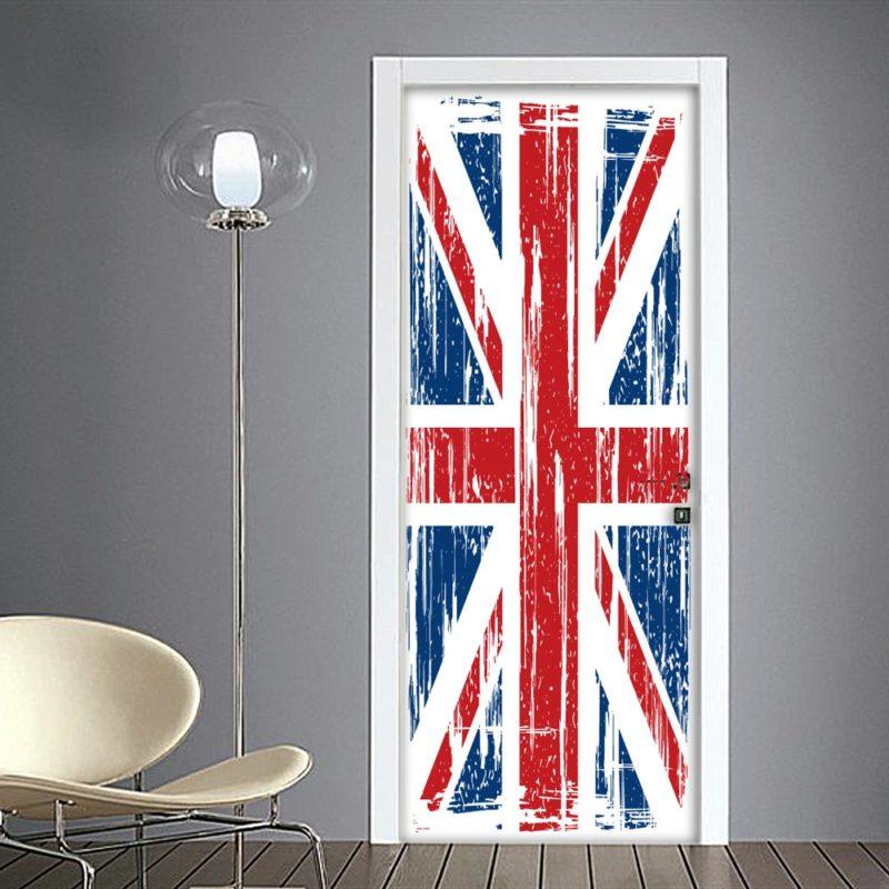 Bandiera inglese union jack adesivo per porta