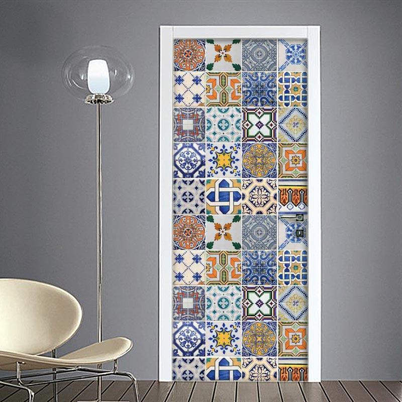 Azulejos piastrelle marocchine adesivo per porte online for Adesivi per piastrelle doccia