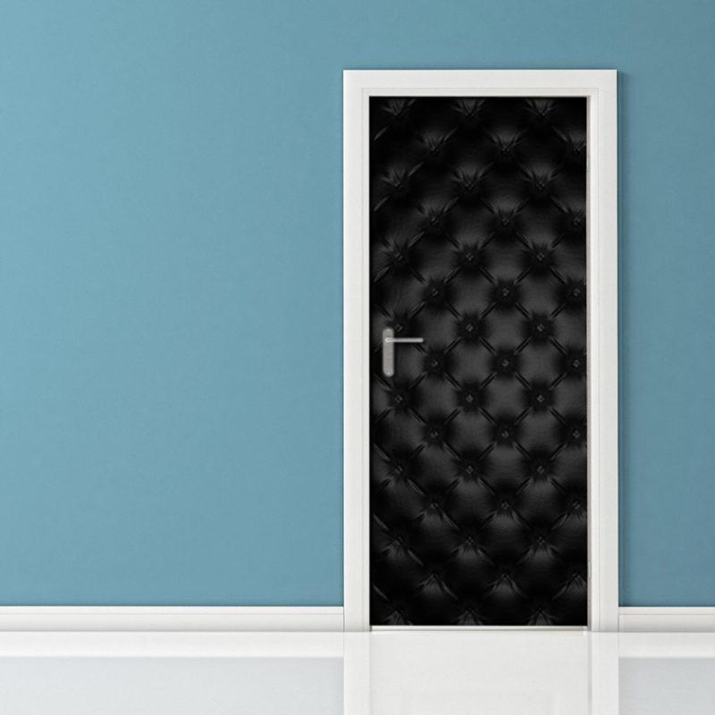 Adesivo porta blindata in pelle