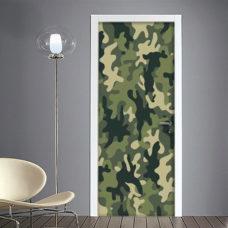 Adesivo porte camouflage tessuto mimetico