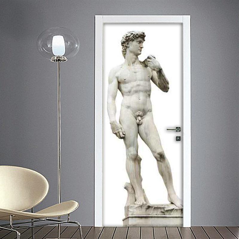 Adesivo porta blindata David di Michelangelo