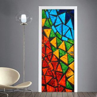 Mosaico Bagno: Adesivo per Porta