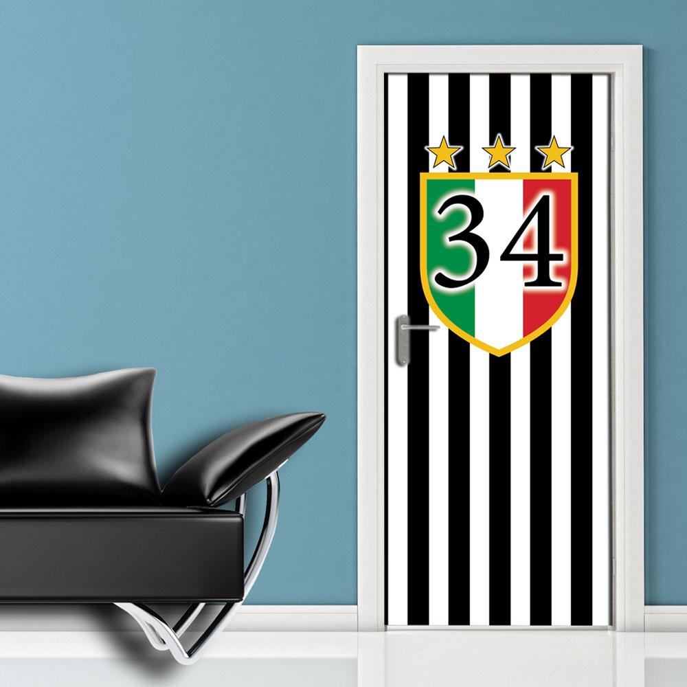 Juventus 34 adesivi per porte - Pannello decorativo per porte ...