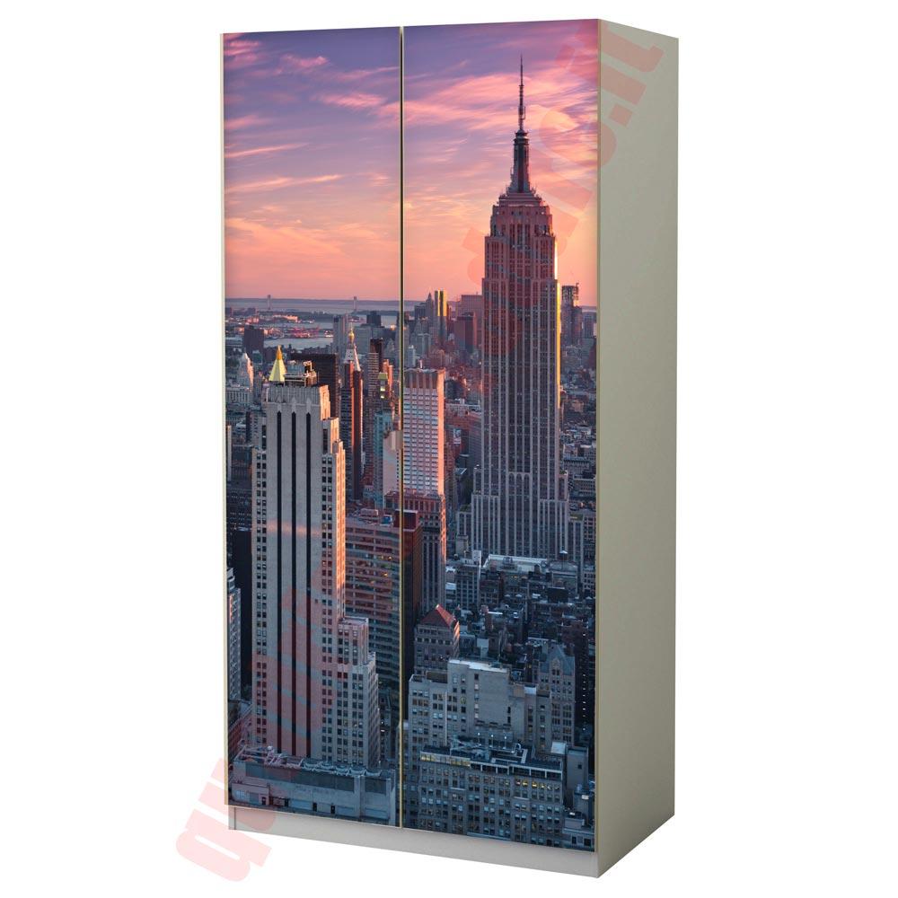 Carta adesiva per mobili new york foto aerea - Adesivi mobili ikea ...