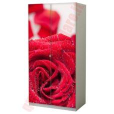 Pellicola adesiva per mobili rosa rossa