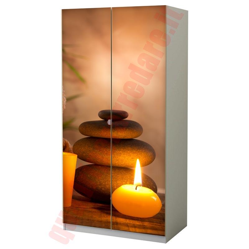 Pellicola adesiva per mobili zen e relax - Carta adesiva colorata per mobili ...