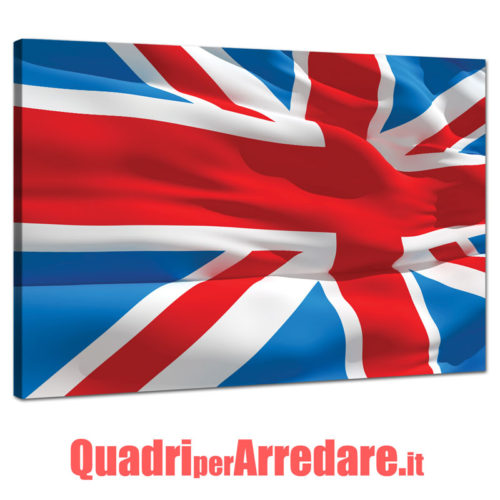 Quadro con bandiera inglese union jack