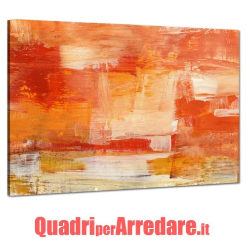 Quadro Canvas con Pennellate vernice di colore astratto